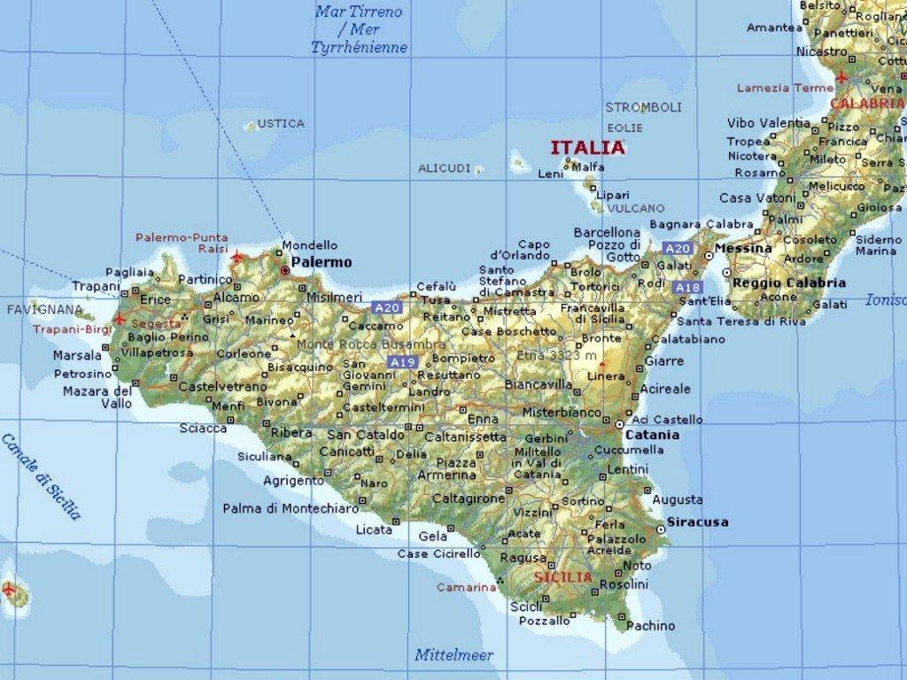 Sisilia Kartta Internet Ja Tietokoneet