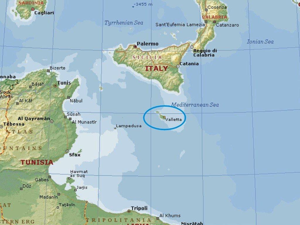 Pin Malta map 16 1086x1037 on Pinterest
